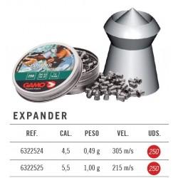 Balines Gamo Expander 5,5 mm 250 ud