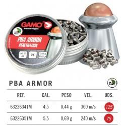 Balines Gamo PBA Armor 4,5 mm 125 ud